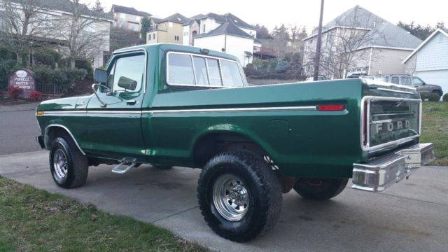 ford f 150 standard cab pickup 1978 green for sale f14hrbg5842 1978 ford f150 4x4 short bed. Black Bedroom Furniture Sets. Home Design Ideas