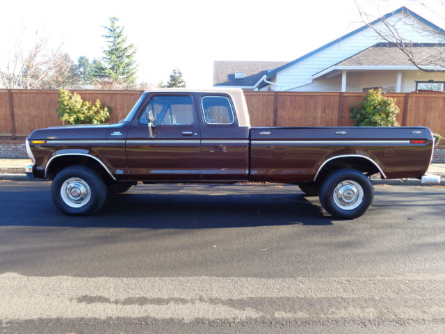ford f 250 extended cab pickup 1978 brown for sale 1978 ford f250 4x4 extended cab ranger 1977. Black Bedroom Furniture Sets. Home Design Ideas