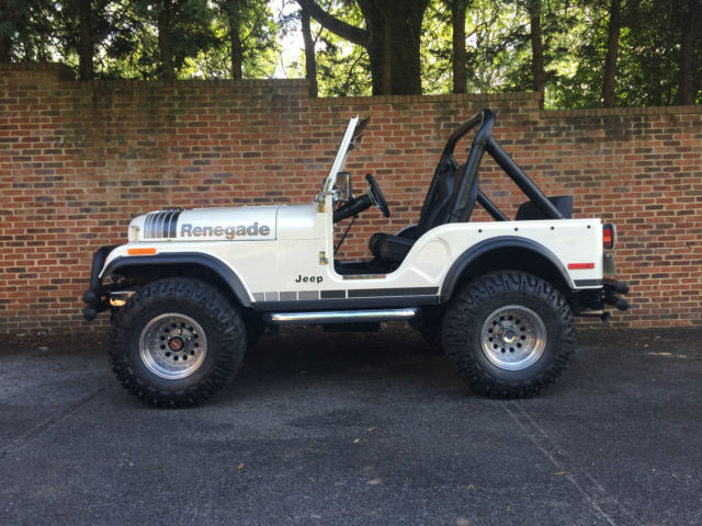 Black Jeep Renegade >> Jeep CJ SUV 1978 Cadillac White Diamond Pearl For Sale ...