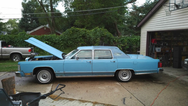 Lincoln Continental 4 Door 1978 Blue For Sale 1978 Lincoln Town Car