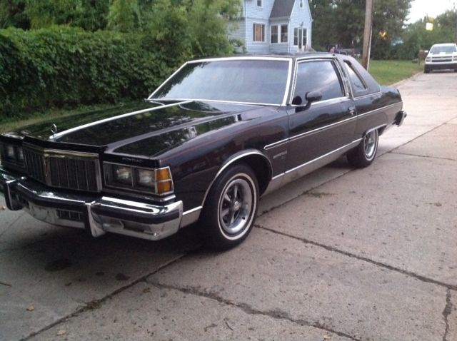 pontiac bonneville coupe 1978 black for sale. Black Bedroom Furniture Sets. Home Design Ideas