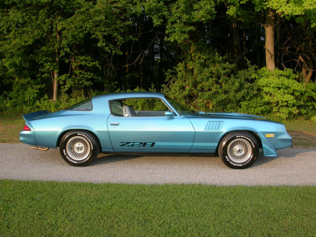 Chevrolet Camaro 2 Dr Coupe 1979 Bright Blue For Sale 1q87l9l586196 1979 Chevrolet Camaro Z28 350 4 Speed 2 Door Coupe Low Miles Rare Color