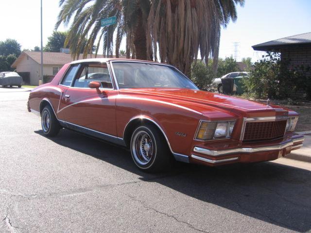 Chevrolet Monte Carlo 2 DR 1979 ORANGE For Sale 1z37h9r429985 CHEVY MONTE CARLO LOW RIDE MILEAGE 42000 CLEAN BODY CUSTOM INTERIOR