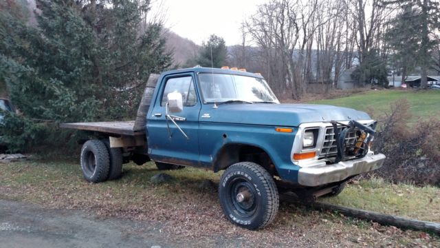 Ford F250 8 Foot Bed For Sale >> Ford F-250 Standard Cab Pickup 1979 Blue For Sale. 1979 ford f250 4x4 dually flatbed dump with plow
