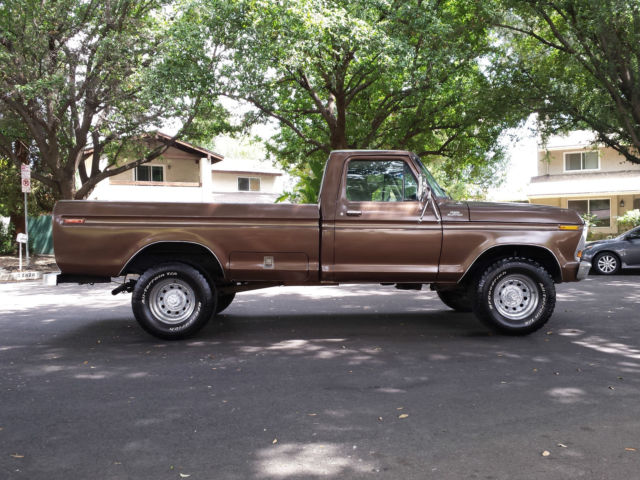 ford f 250 standard cab pickup 1979 brown for sale f26srdj6613 1979 ford f250 4x4 original 400. Black Bedroom Furniture Sets. Home Design Ideas