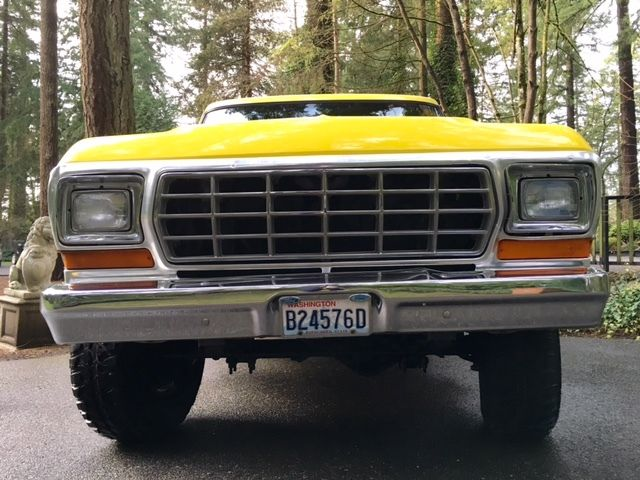 ford f 250 crew cab pickup 1979 yellow for sale f26scea6678 1979 ford f250 ranger xlt lariat. Black Bedroom Furniture Sets. Home Design Ideas