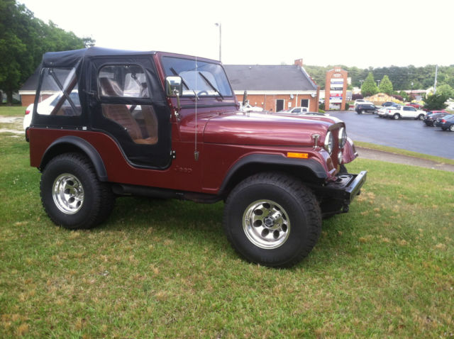 Tremendous Jeep Cj Convertible 1979 Burgundy For Sale J9F8Eh806959 1979 Jeep Wiring Cloud Peadfoxcilixyz
