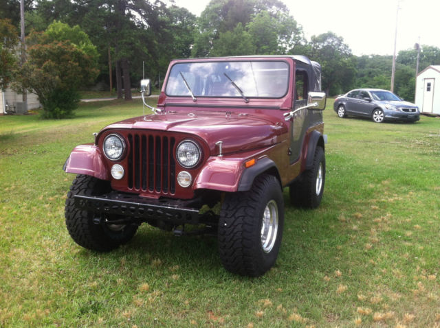 Pleasing Jeep Cj Convertible 1979 Burgundy For Sale J9F8Eh806959 1979 Jeep Wiring Cloud Peadfoxcilixyz