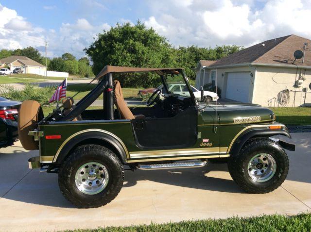 jeep cj convertible 1979 metallic green for sale 1979 jeep cj7 laredo 304 v8 4x4 automatic. Black Bedroom Furniture Sets. Home Design Ideas