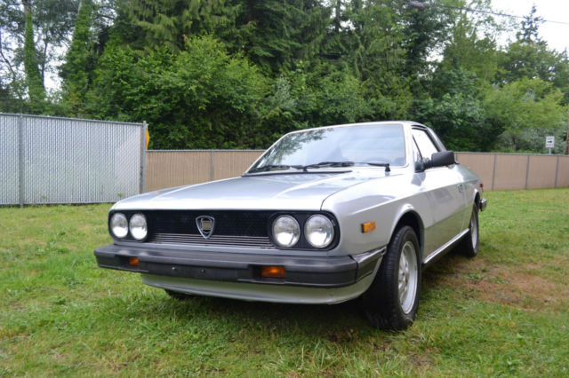 Lancia Zagato 1979 Silver For Sale 828BC1200749 Nicely Preserved Fresh Paint Low Miles Stored Many Years