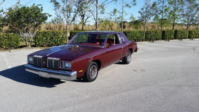 Oldsmobile Cutlass Coupe 1979 Dark Red Garnet For Sale 3R47A9M538355 Supreme