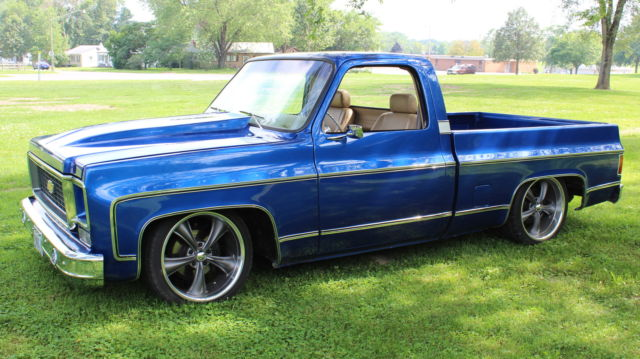 chevrolet c 10 standard cab pickup 1980 blue for sale 1980 chevrolet swb custom c10 show truck. Black Bedroom Furniture Sets. Home Design Ideas