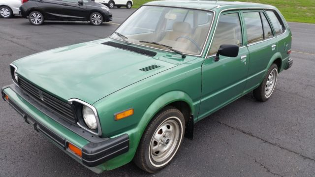 honda civic 4 door wagon 1980 green for sale wd b1004879. Black Bedroom Furniture Sets. Home Design Ideas