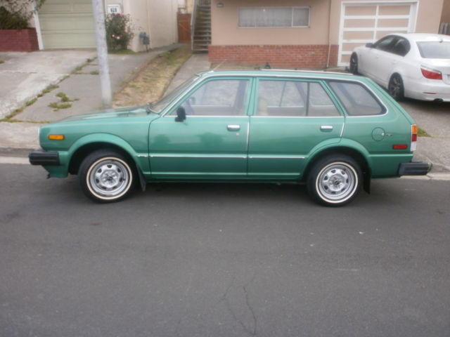 honda civic wagon 1980 green for sale wdb1019604 1980 honda civic wagon one owner 44k miles. Black Bedroom Furniture Sets. Home Design Ideas