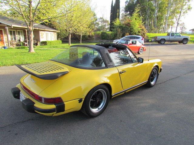 porsche 911 911 sc targa 1980 yellow for sale 91a0143898 1980 porsche 911 sc targa 3 0l 5 speed. Black Bedroom Furniture Sets. Home Design Ideas