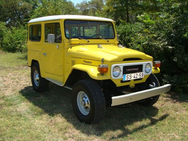 toyota land cruiser suv 1980 yellow for sale 1980 toyota land cruiser bj40 diesel left hand. Black Bedroom Furniture Sets. Home Design Ideas