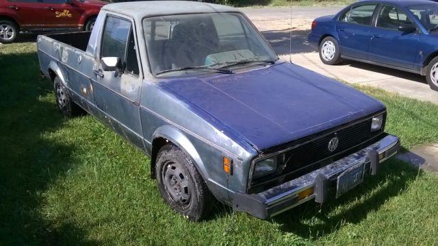 volkswagen rabbit standard cab pickup 1980 blue for sale. Black Bedroom Furniture Sets. Home Design Ideas