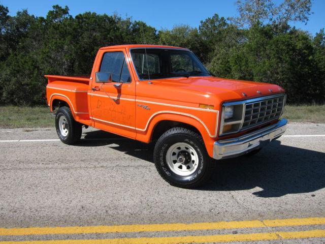 Ford F 150 Standard Cab Pickup 1981 Orange For Sale 1ftdf14f6bpa67345