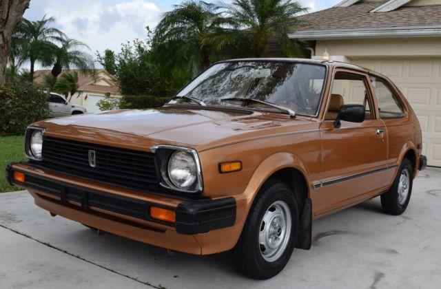 Honda Civic Hatchback 1981 Gold For Sale