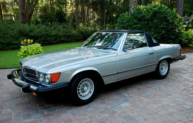 Mercedes benz 300 series convertible 1981 silver for sale for 1981 mercedes benz 380sl