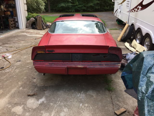 Pontiac trans am t top 1981 red for sale for Ride now motors in monroe north carolina