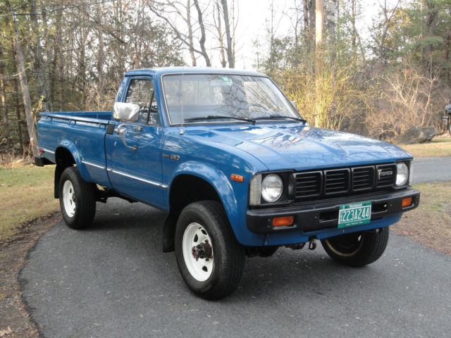 Toyota Other Standard Cab LONGBED Pickup 1981 BLUE For Sale