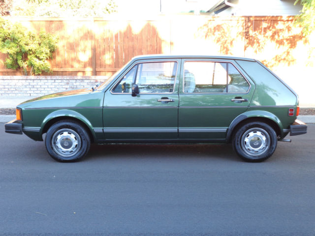 Volkswagen Rabbit Hatchback 1981 Green For Sale. 1VWFG0178BV125865 1981 Volkswagen VW Rabbit L ...