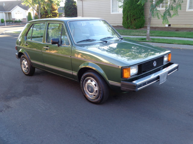 volkswagen rabbit hatchback 1981 green for sale 1vwfg0178bv125865 1981 volkswagen vw rabbit l. Black Bedroom Furniture Sets. Home Design Ideas