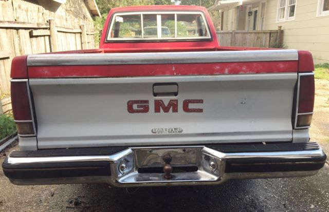 GMC S15 Standard Cab Pickup 1982 RED/WHITE For Sale