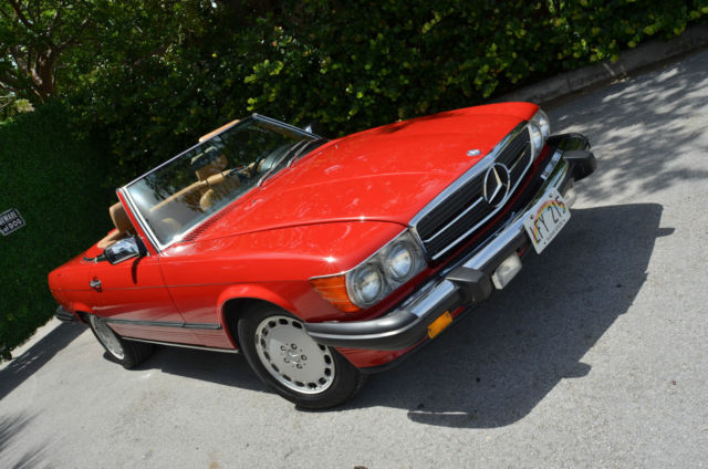 Mercedes benz sl class convertible 1988 red for sale for 1988 mercedes benz 560sl for sale