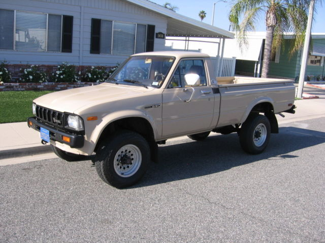 Toyota R22 For Sale >> Toyota 4WD Pickup SR5 Long Bed Standard Cab Pickup 1982 Tan For Sale. JT4RN48SXC0033002 1982 ...