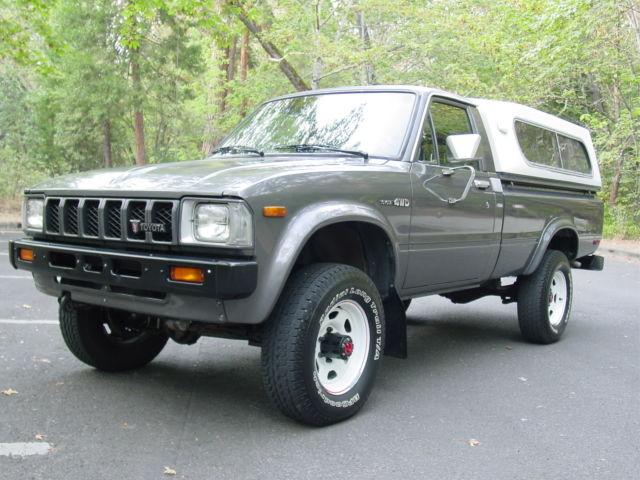 toyota other standard cab pickup 1982 gray for sale. Black Bedroom Furniture Sets. Home Design Ideas