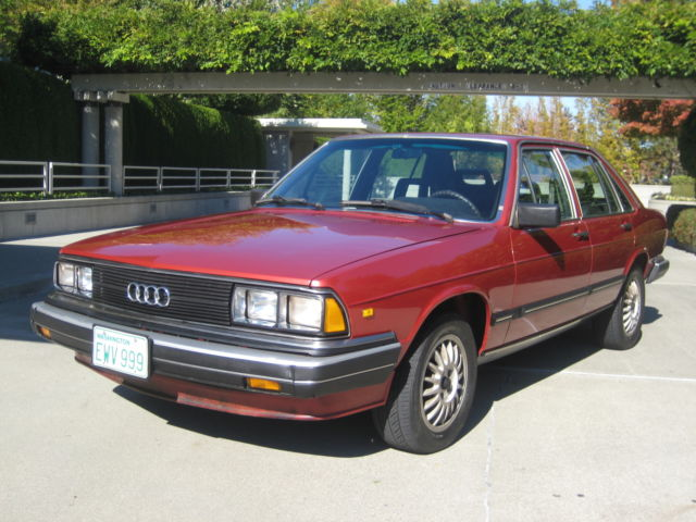 Audi Of Bellevue >> Audi 5000 Turbo 4 Door Sedan 1983 Burgundy For Sale ...