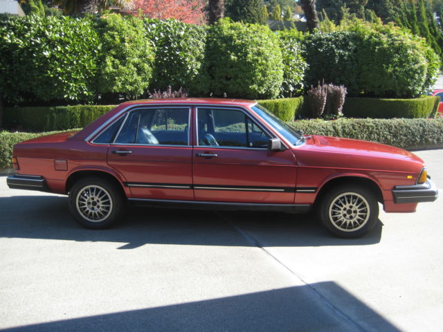 Audi Of Bellevue >> Audi 5000 Turbo 4 Door Sedan 1983 Burgundy For Sale ...