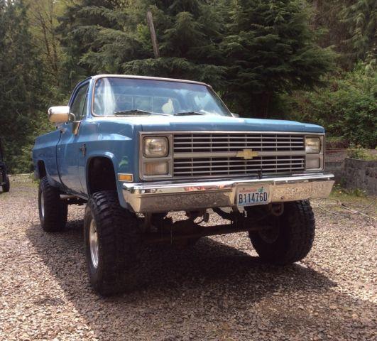 Chevrolet C K Pickup 1500 1983 Blue For Sale 1gcek14h8dj172220 1983