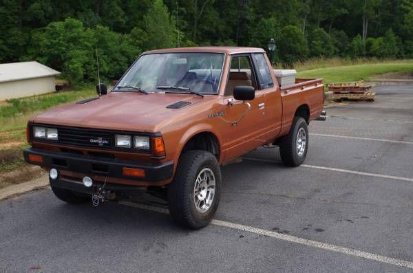 datsun other extended cab pickup 1983 orange for sale. Black Bedroom Furniture Sets. Home Design Ideas