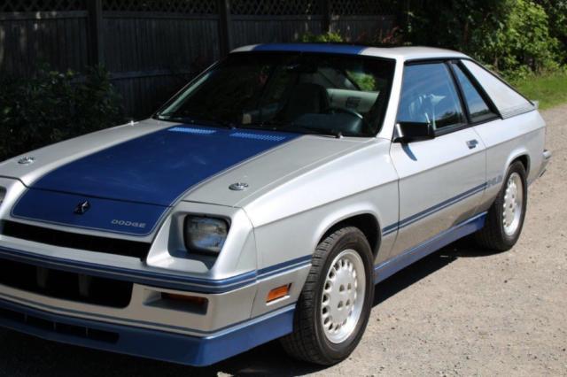 Dodge Charger Hatchback 1983 Silver Blue For Sale