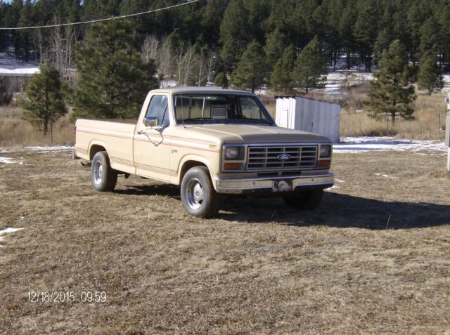 ford f 150 standard cab pickup 1983 tan for sale 1ftdf15y1dra17511 1983 ford f 150 base. Black Bedroom Furniture Sets. Home Design Ideas