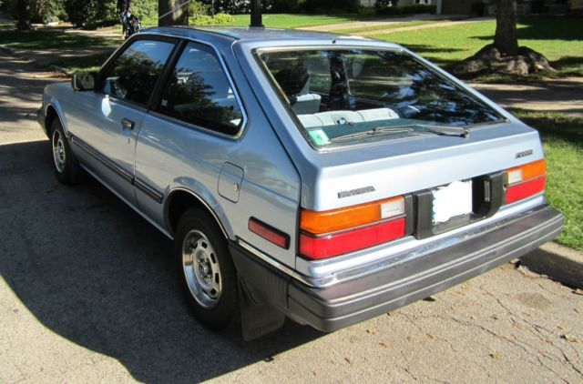 honda accord hatchback 1983 blue for sale. Black Bedroom Furniture Sets. Home Design Ideas
