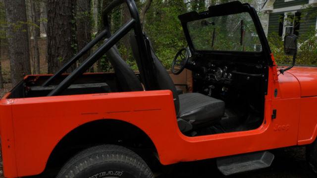 Jeep CJ Convertible 1983 Orange For Sale  1jccn87e7dt004497