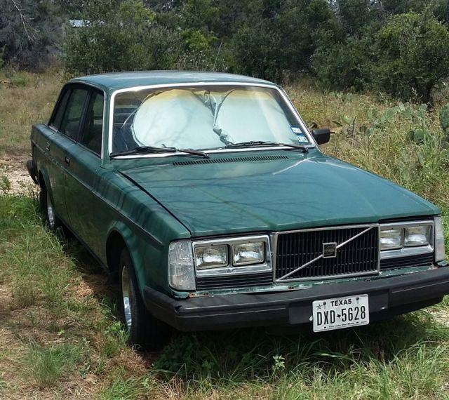 1983 Volvo 240 244 4 Spd Manual Transm Od Green New Tires Battery Many Parts