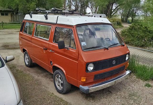 volkswagen busvanagon van camper  orange  sale wvzbdh  vw vanagon