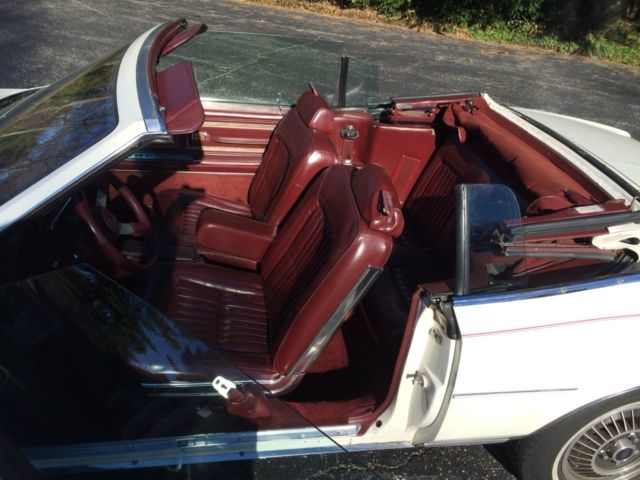 buick riviera convertible 1984 white for sale. 1g4az67y6ee439914