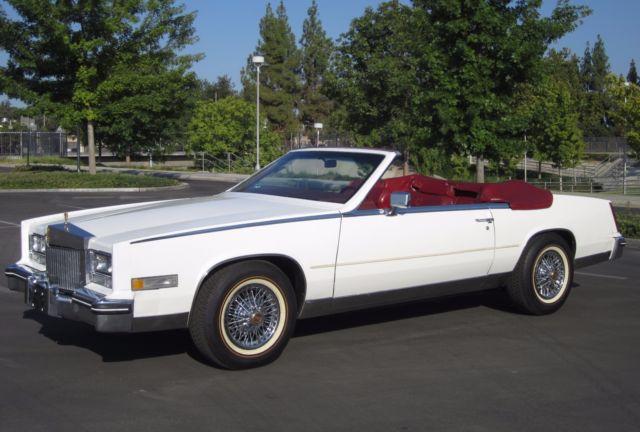cadillac eldorado convertible 1984 white for sale 1g6al6786ee668781 1984 cadillac eldorado. Black Bedroom Furniture Sets. Home Design Ideas