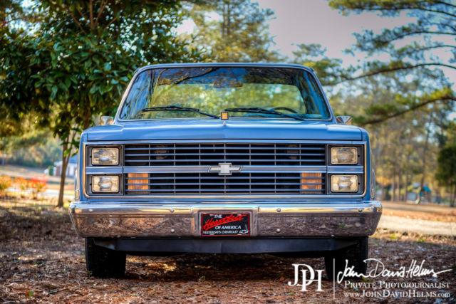 chevrolet c 10 pickup truck 1984 blue for sale 1gcdc14h8ef381731 1984 chevrolet c 10 c10 chevy. Black Bedroom Furniture Sets. Home Design Ideas
