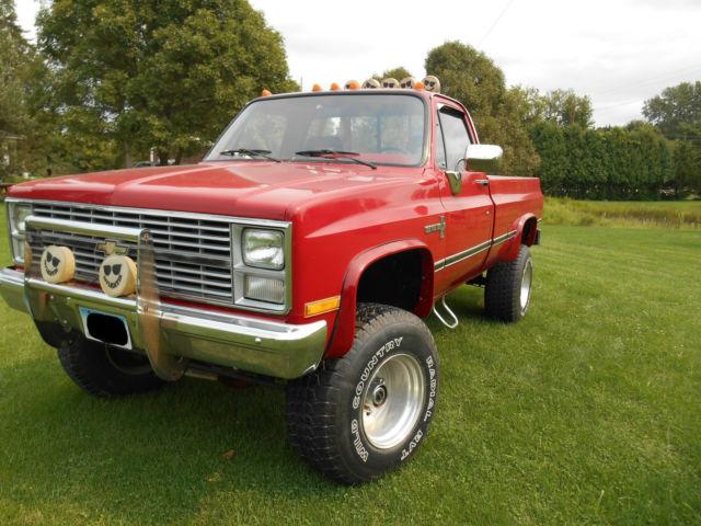 Chevrolet C/K Pickup 2500 Standard Cab Pickup 1984 Red For Sale