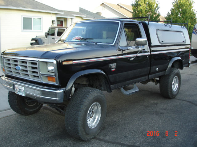 Ford f 250 truck 1984 black for sale 1fthf261xepb65744 for Used ford motors sale