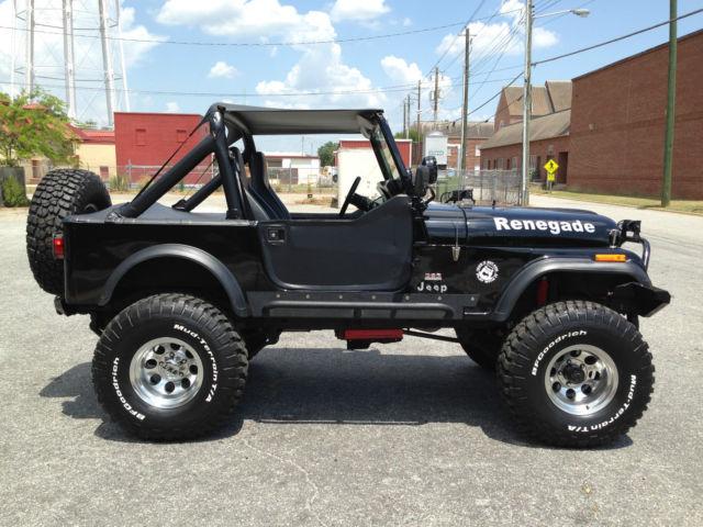 jeep other suv 1984 black for sale 1jccf87exet114376 1984 jeep cj7 renegade sport utility 2. Black Bedroom Furniture Sets. Home Design Ideas