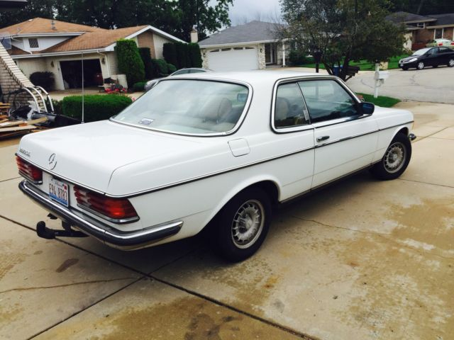 Mercedes benz 300 series coupe 1984 white for sale for Mercedes benz tune up cost