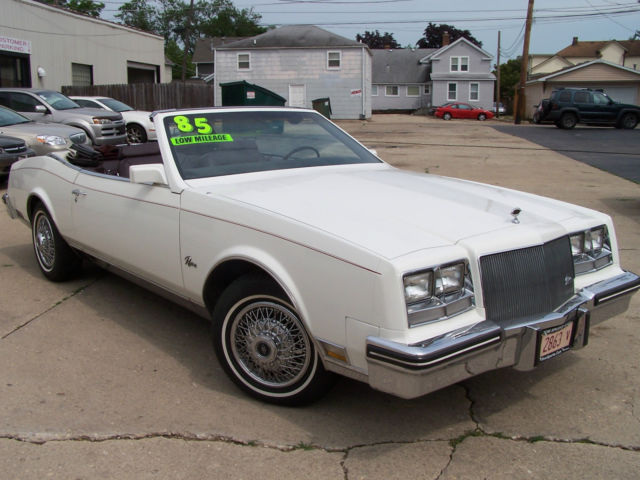 buick riviera coupe 1985 white for sale. 1g4ez67y1fe447051 1985